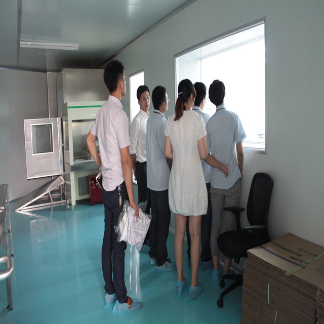 Visiting cleanroom